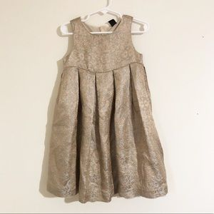BABY GAP formal Gold sparkle dress